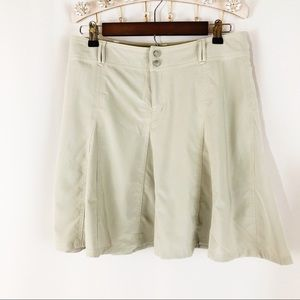Athleta Athletic Cream Skirt Shorts